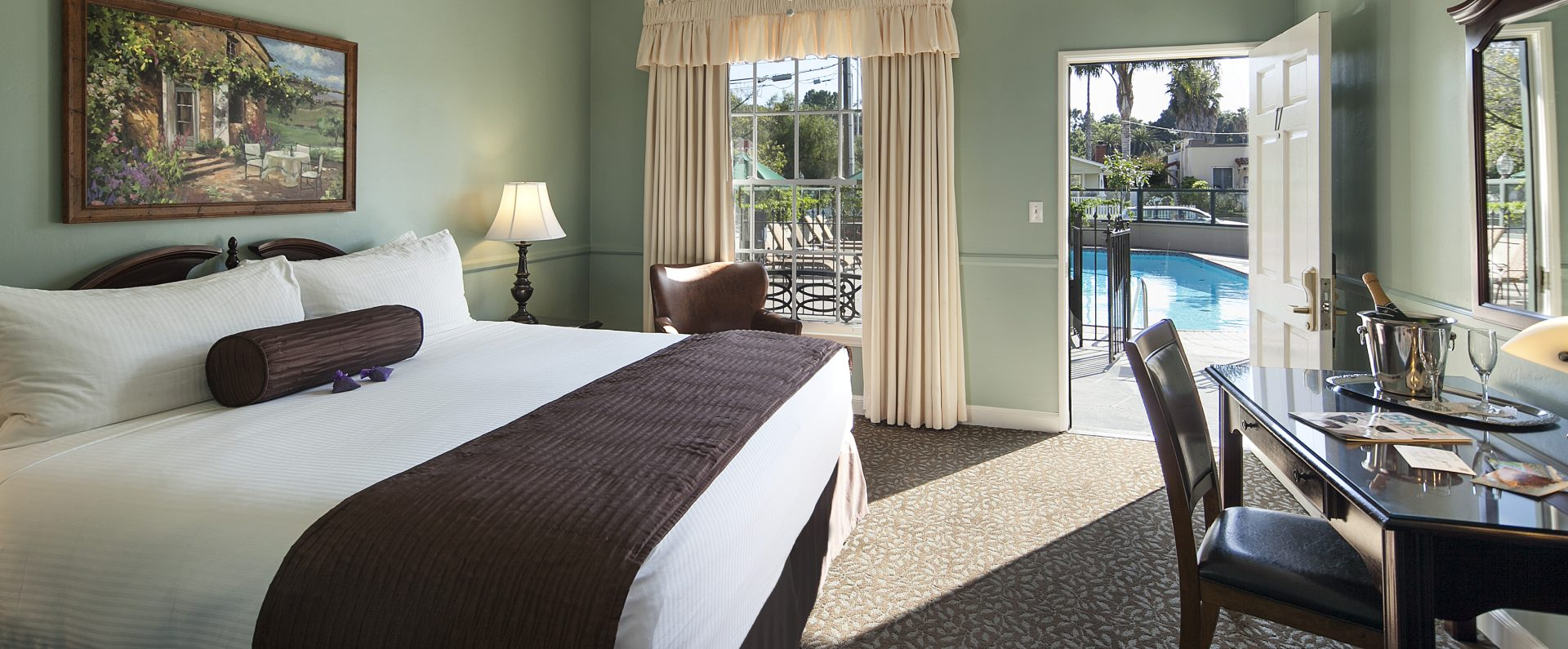 room in front of pool at Lavender Inn by the Sea