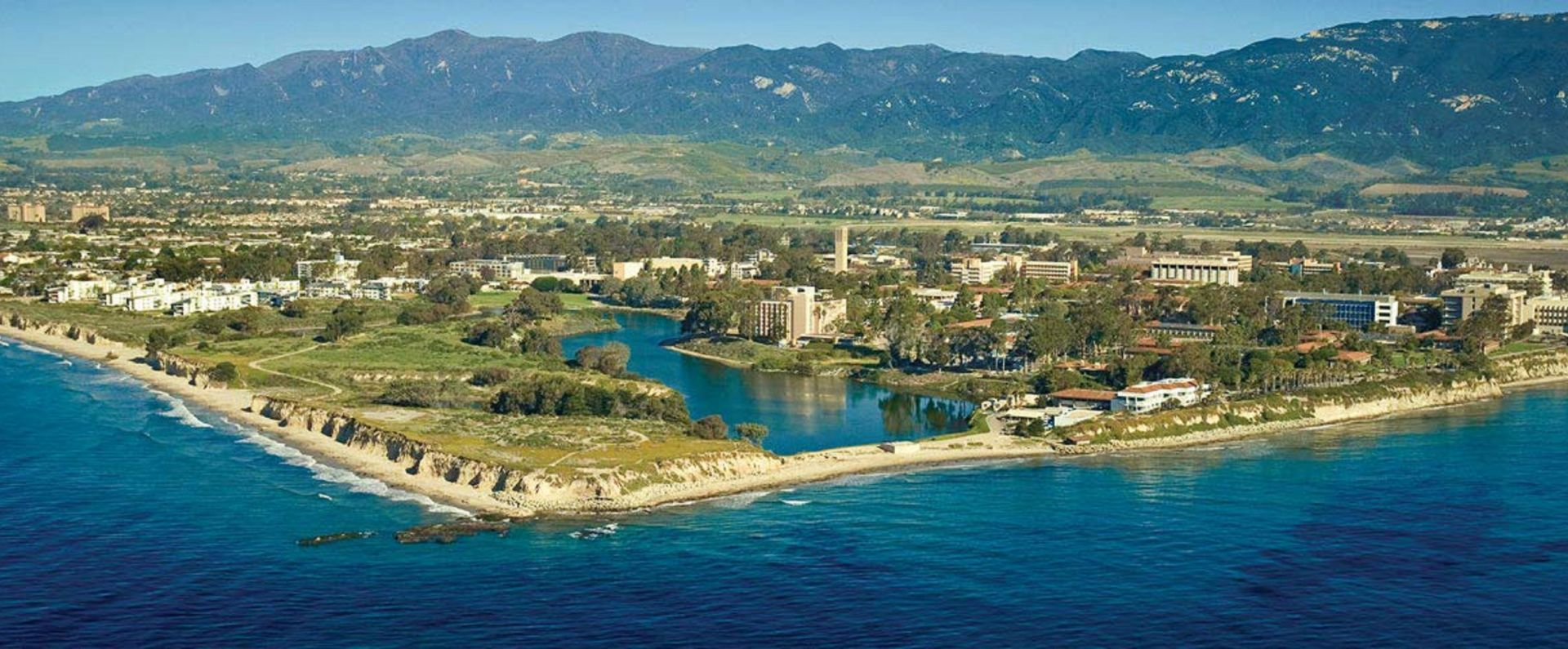 Aerial View of University of California, Santa Barbara