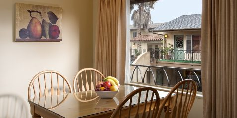 Kitchen table with fruits at Brisas Del Mar, Inn at the Beach