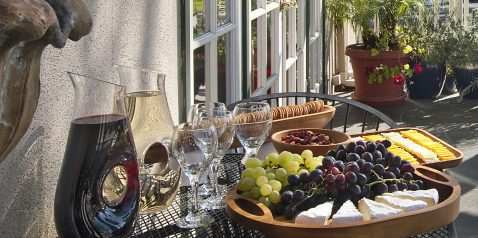 Wine and cheese reception at Lavender Inn by the Sea