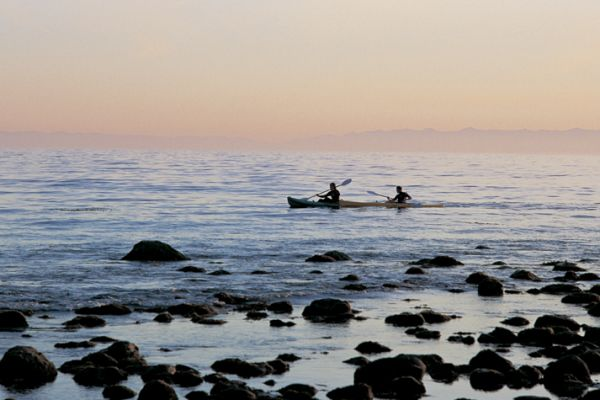 Kayaks in Santa Barbara beaches
