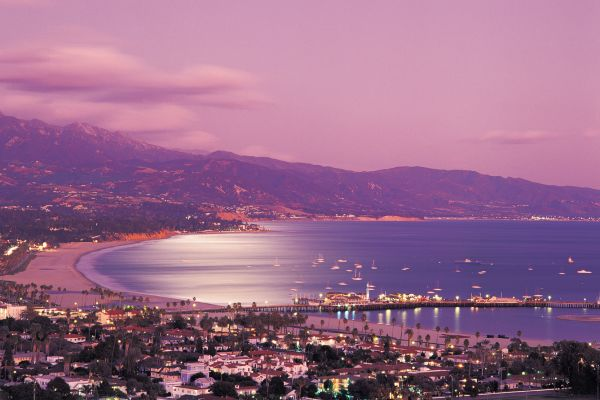 American Riviera purple sunset