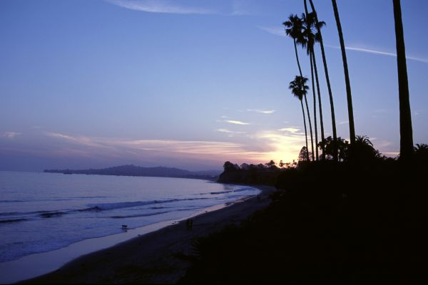 Beach sunset in Santa Barbara