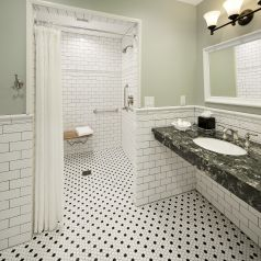 Accessible Fireside Suite bathroom